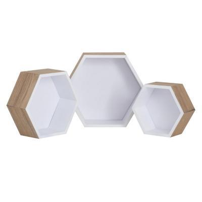 Set de repisas Melamina 3 unidades Blanco