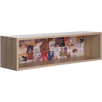 Repisa caja estampilla de melamina 80x20x22 cm