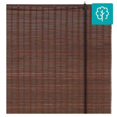 Cortina enrollable bambú 120x165 cm café