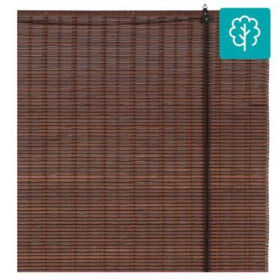 Cortina enrollable bambú 150x250 cm café