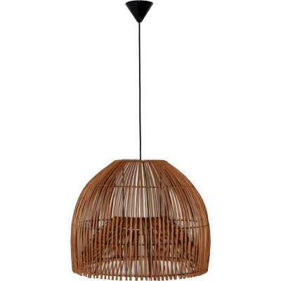 Lámpara de colgar Mimbre Campana II Café