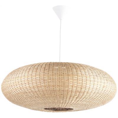 Lámpara de colgar Mimbre Circular Blanca