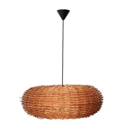 Lámpara de colgar Mimbre Erizo Café