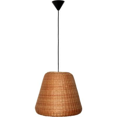Lámpara de colgar Mimbre Diamante II Café
