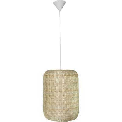 Lámpara colgante tubo blanca