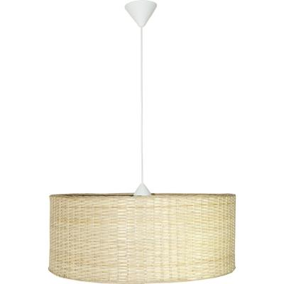 Lámpara de colgar Mimbre Isidora Blanca