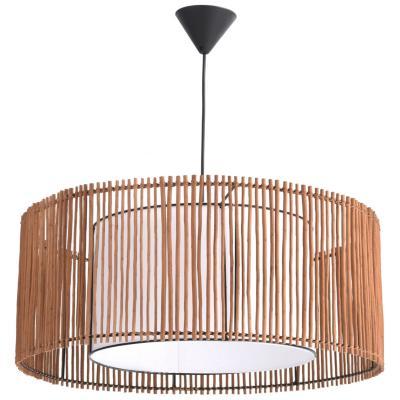 Lámpara de colgar Mimbre Catalina Café