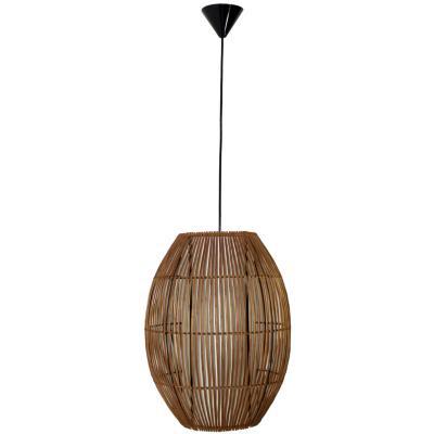 Lámpara de colgar Mimbre Tubo II Café
