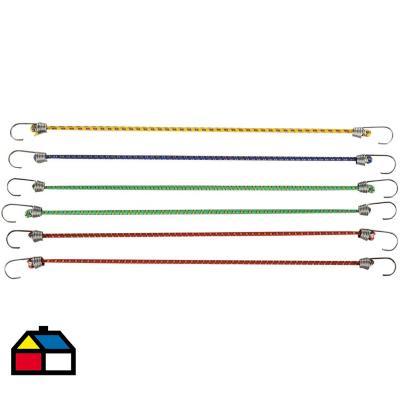 Set de pulpos metal 25 cm 6 unidades