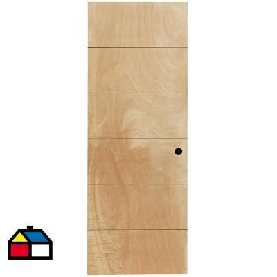 Puerta Terciado Huilo con Perforación 65 x 200cm