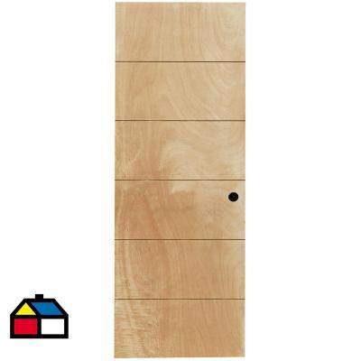 Puerta Terciado Huilo con Perforación 60 x 200cm