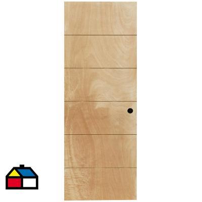 Puerta Terciado Huilo con Perforación 90 x 200cm