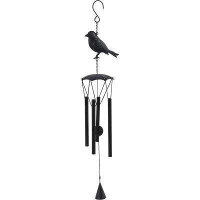Campana de viento pájaro metal