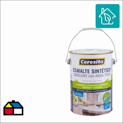Esmalte Sintético Cereluxe Aquatech Semibrillo Blanco 1 gl