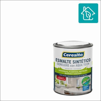 Esmalte Sintetico Cereluxe Aquatech Semibrillo Blanco 1/4gl
