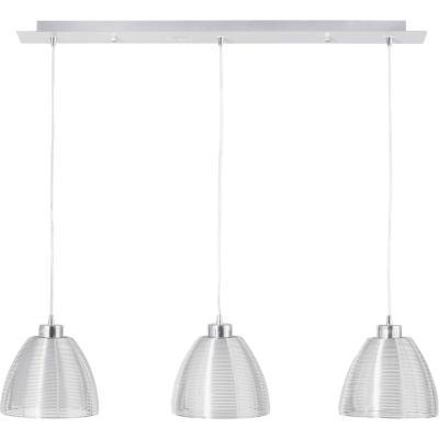 Lámpara de colgar Metal y vidrio Lisboa 3L Opalo