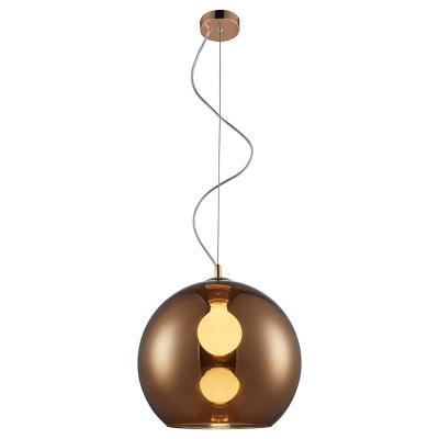 Lámpara de colgar Vidrio Porto Ámbar