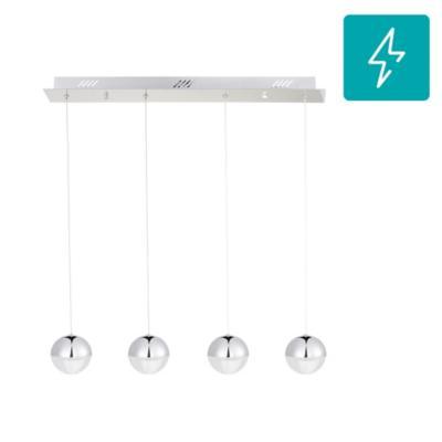 Lámpara de colgar Acrílico Coimbra Led 4L Gris