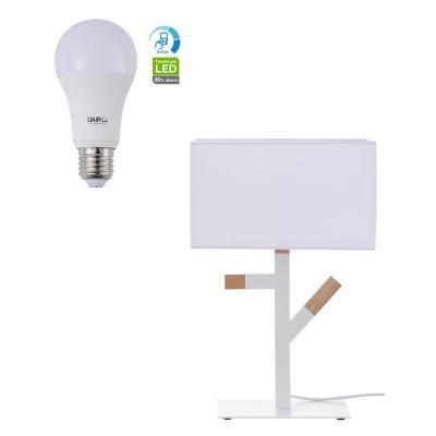 Combo Lámpara de Mesa 1L E27 18W + Ampolleta LED A60 11.5W E27