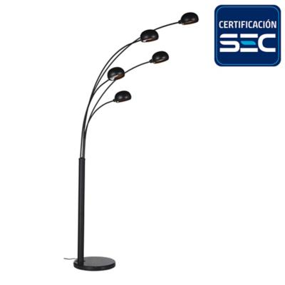 Lámpara de Pie Génova 5 Luces E14 40 W