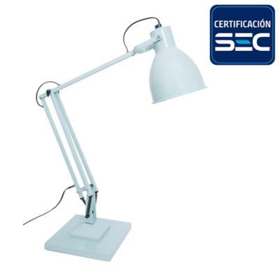 Lámpara de escritorio Bostón celeste 1 l E27 25 W