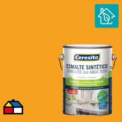 Esmalte Sintetico Cereluxe Aquatech Semibrillo Amar Rey 1 gl