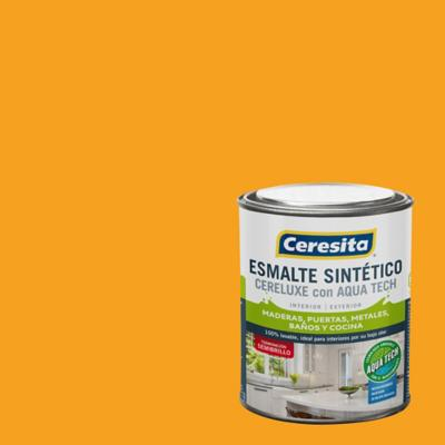 Esmalte Sintetico Cereluxe Aquatech Semibrillo Amar Rey 1/4 gl