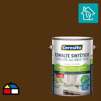 Esmalte Sintetico Cereluxe Aquatech Semibrillo Cafe Mor 1 gl