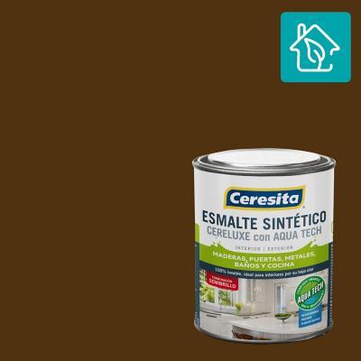 Esmalte Sintetico Cereluxe Aquatech Semibrillo Cafe Mor 1/4 gl