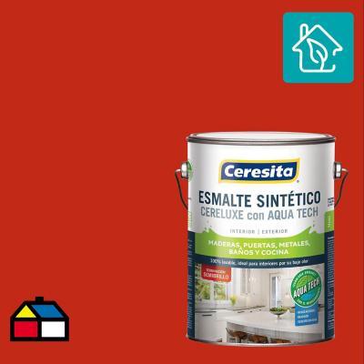 Esmalte Sintetico Cereluxe Aquatech Semibrillo Bermellon 1 gl