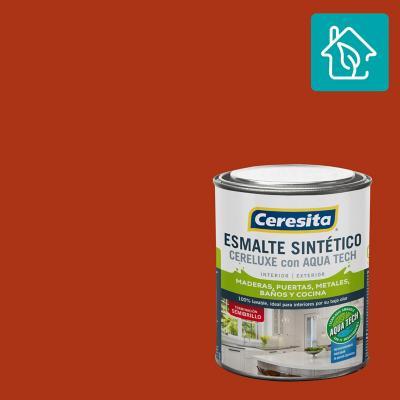 Esmalte Sintetico Cereluxe Aquatech Semibrillo Bermellon 1/4 gl