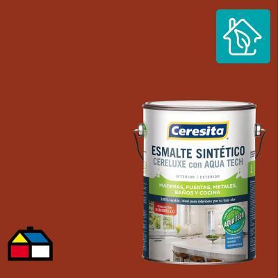 Esmalte Sintetico Cereluxe Aquatech Semibrillo Ladrillo 1 gl