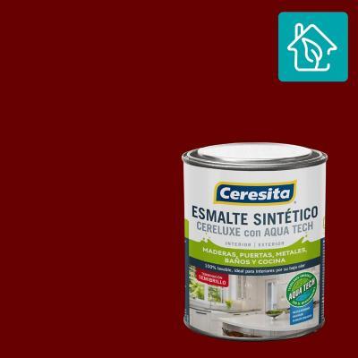Esmalte Sintetico Cereluxe Aquatech Semibrillo Ladrillo 1/4 gl