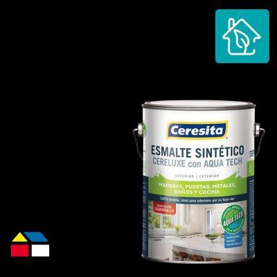 Esmalte Sintetico Cereluxe Aquatech Semibrillo Negro 1 gl