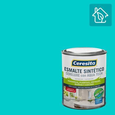 Esmalte Sintetico Cereluxe Aquatech Semibrillo Calipso 1/4 gl