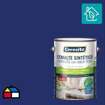 Esmalte Sintetico Cereluxe Aquatech Semibrillo Azul 1 gl