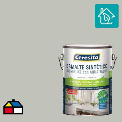 Esmalte Sintetico Cereluxe Aquatech Semibrillo Gris Perla 1 gl