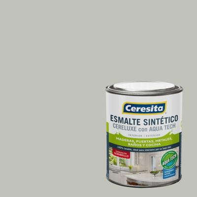 Esmalte Sintetico Cereluxe Aquatech Semibrillo Gris Per 1/4 gl