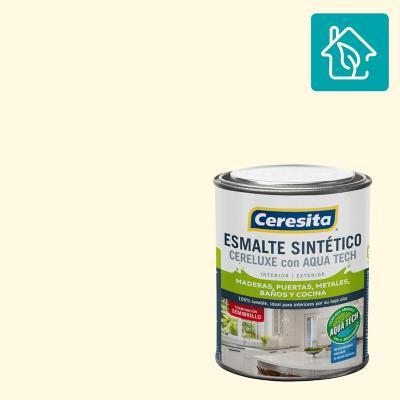 Esmalte Sintetico Cereluxe Aquatech Semibrillo Marfil 1/4 gl
