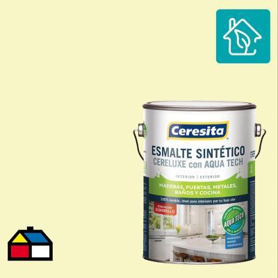 Esmalte Sintetico Cereluxe Aquatech Semibrillo Blanco Hueso 1 gl