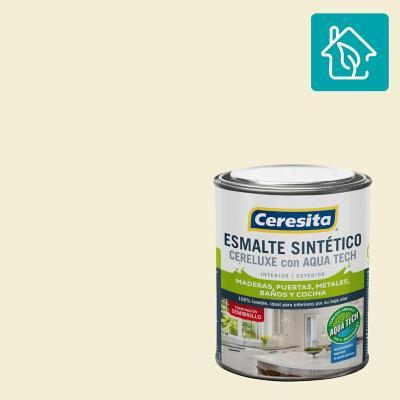 Esmalte Sintetico Cereluxe Aquatech Semibrillo Blanco Hueso 1/4 gl