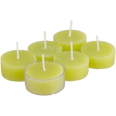 Set de velas verbena fresias 6 unidades Verde claro