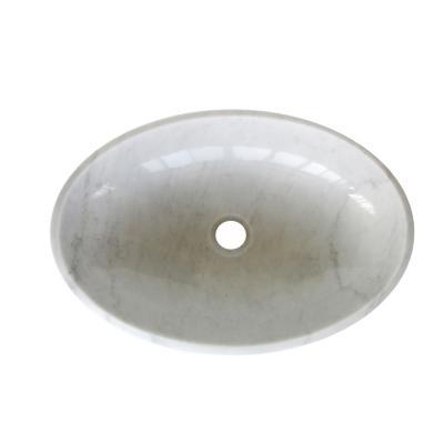 Lavamanos ovalado 55x15x35 cm mármol blanco