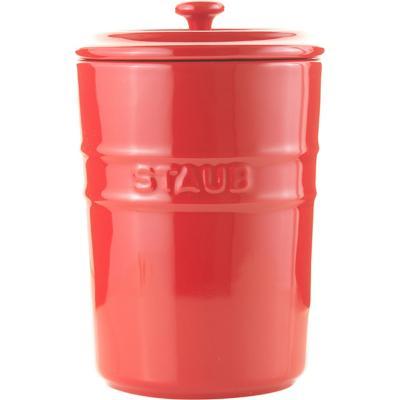 Contenedor de alimentos cerámica 1 litro cherry 12,4x12,4x18 cm