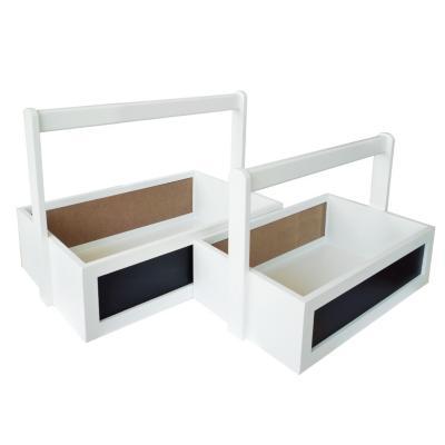 Set de cajas 25x37x25 cm 2 unidades blanco