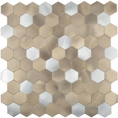 Mosaico auto-instalable aluminio Copper 28X29 cm