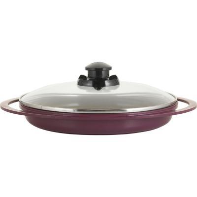 Grill con tapa 28 cm violeta
