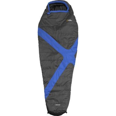 Saco de dormir tipo momia poliéster azul
