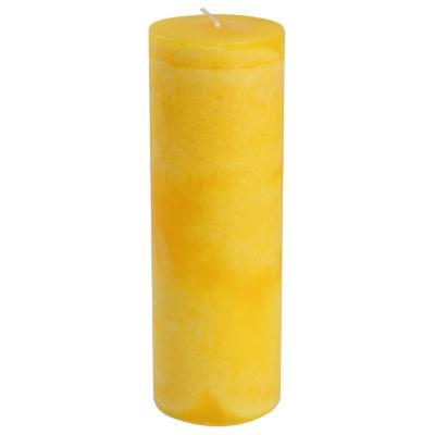 Vela pilar limón 20x7 cm amarillo