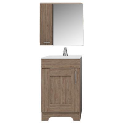 Combo de botiquín + mueble para lavamanos miel